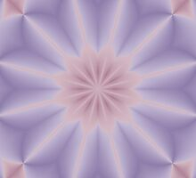Pink and Lilac 3D Flower by Lena127