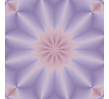 Pink and Lilac 3D Flower Photographic Print