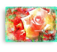Rose Hard Journal Cover Canvas Print