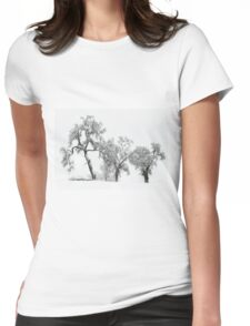 Oaktrees in the Snow Womens Fitted T-Shirt
