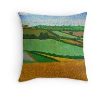 Rural Fields Throw Pillow