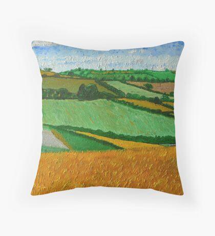 Rural Fields Throw Pillow