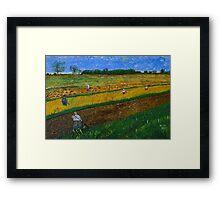 Rural Work Framed Print