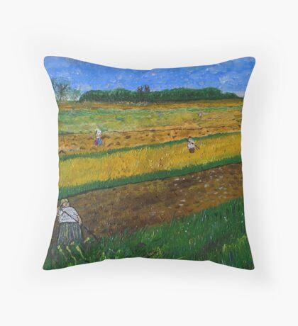 Rural Work Throw Pillow