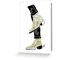 Gold Boots Greeting Card