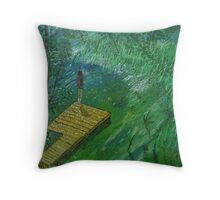 Anna on the Dock Throw Pillow