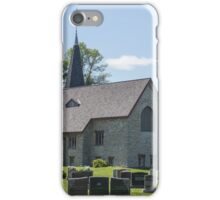 Small town church with cemetery iPhone Case/Skin