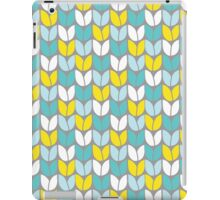 Tulip Knit (Aqua Gray Yellow) iPad Case/Skin