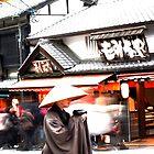Monk in Kyoto by Diana Mankowski