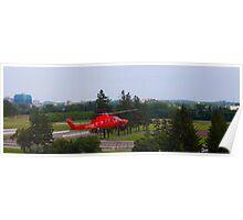 An air ambulance lands Poster