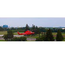 An air ambulance lands Photographic Print