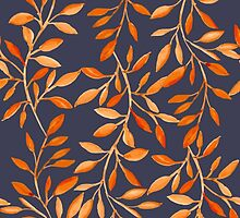 Autumn pattern by JuliaBadeeva