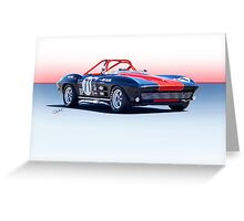 1964 Corvette Convertible Production GT Greeting Card