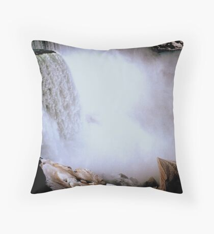 The Mist of the Falls     ^ Throw Pillow