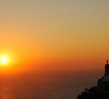 Santorini Sunset by Robert Taylor