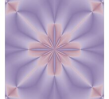 Pink and Lilac 3D Flower Two Photographic Print