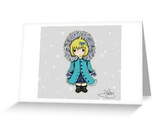 Self portrait winter girl Greeting Card