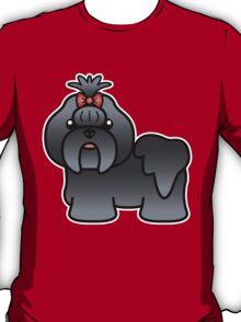 Blue Shih Tzu Cartoon Dog T-Shirt