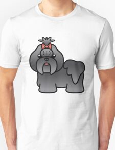 Blue Shih Tzu Cartoon Dog T-Shirt
