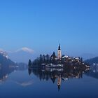 The Alps from Lake Bled by DeePhoto