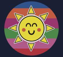 Hello Sunshine / Rainbow Background Kids Tee
