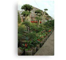flower plantation Canvas Print