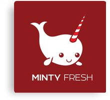 Minty Fresh Baby Narwhal Canvas Print