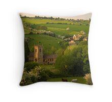 Across the Valley - Naunton Throw Pillow