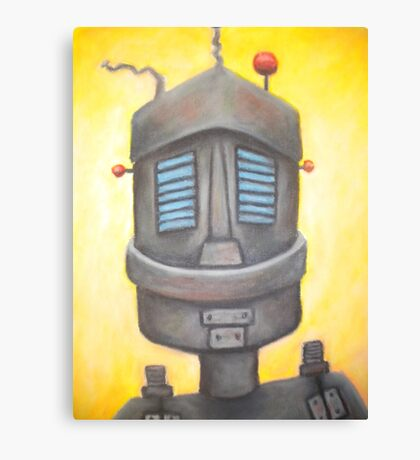 Robot portrait  Canvas Print