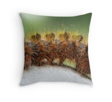 Caterpillar (Silver-Spotted Tussock Moth) Throw Pillow