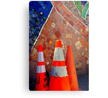 Only Semi-Plastered...Hic Metal Print