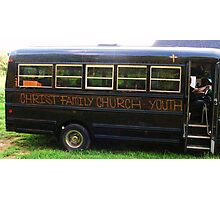 THE CHURCH BUS! Photographic Print