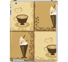 Coffee Cup Time Retro Illustration iPad Case/Skin