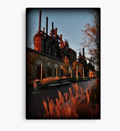 Golden Hour At The Stacks Canvas Print