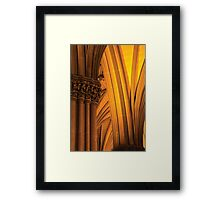 The Columns of St. Patricks Cathedral Framed Print