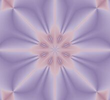 Pink and Lilac 3D Flower Three by Lena127
