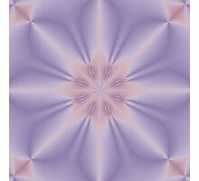 Pink and Lilac 3D Flower Three Photographic Print