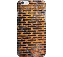 Old rusted metal background in New York, USA iPhone Case/Skin
