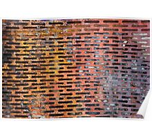 Old rusted metal background in New York, USA Poster