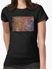 Old rusted metal background in New York, USA Womens Fitted T-Shirt