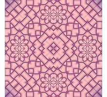 Pink and Magenta Tracery Photographic Print
