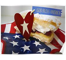 """God Bless America Puff Pastry"" Poster"