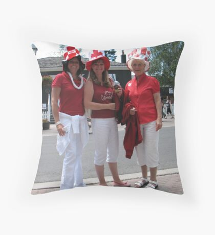 Proud to be Women and Canadian! Throw Pillow