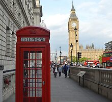 Big Ben and Red Telephone Booth by Eac2310