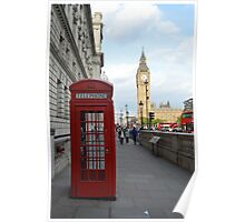 Big Ben and Red Telephone Booth Poster