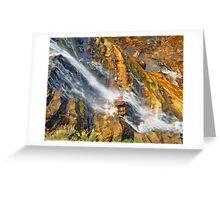 Waterfall Detail  Greeting Card
