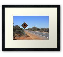 Kangaroos Crossing Framed Print