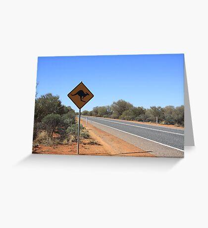 Kangaroos Crossing Greeting Card
