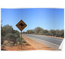 Kangaroos Crossing Poster