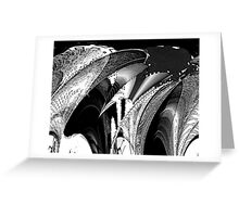 City Ship Black and White Bold Greeting Card